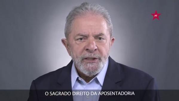 Imagem de Lula sobre a Reforma da Previdência: