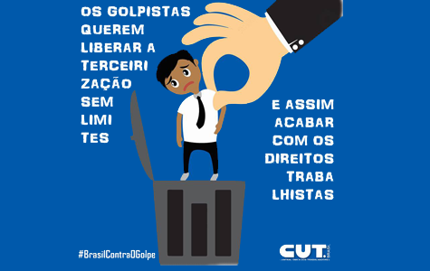 Imagem de Não à terceirização: CUT e Sindicatos farão grande protesto nesta terça (7)