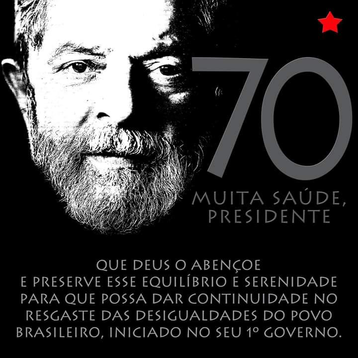 Imagem de CNTTL/CUT parabeniza 70 anos de Lula