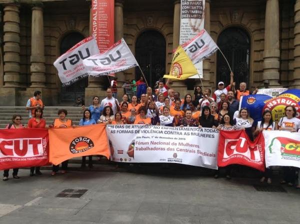 Imagem de SP: Sindicalistas vão às ruas orientar e denunciar violência contra mulher no trabalho