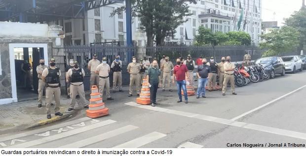 Imagem de Guardas portuários de Santos serão vacinados contra a Covid-19