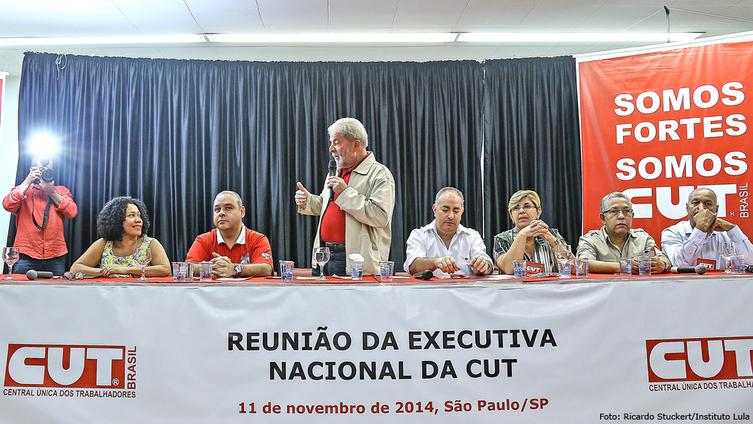 Imagem de Em reunião com a CUT, Lula pede mais ação política do movimento sindical