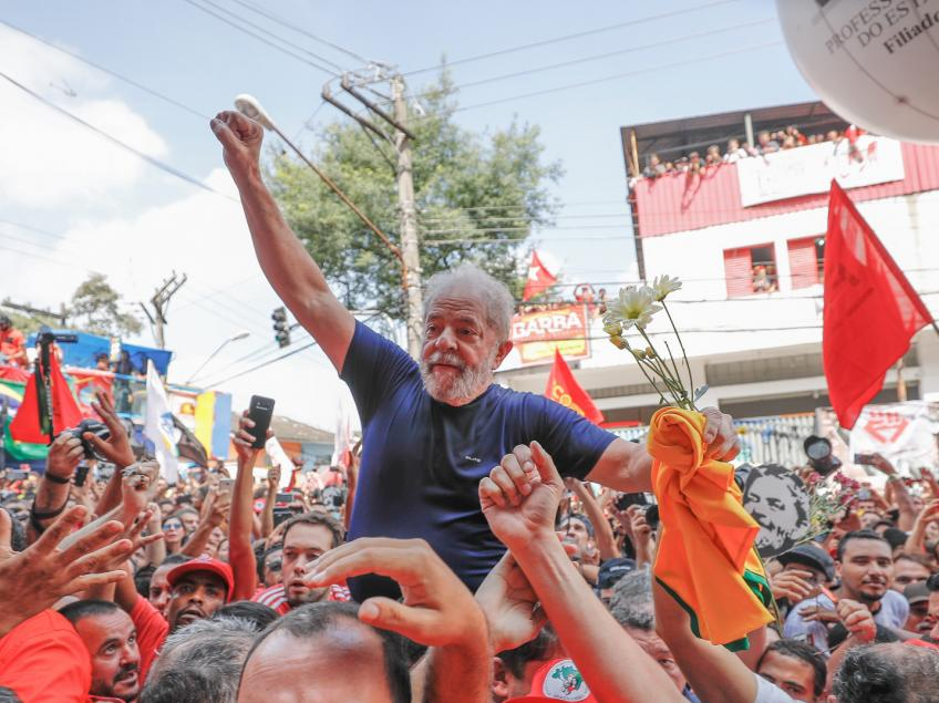 Imagem de #NósSomosLula Confira na íntegra o discurso de Lula em São Bernardo