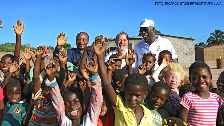 Imagem de Lula e Graziano: Por um mundo sem fome e com paz