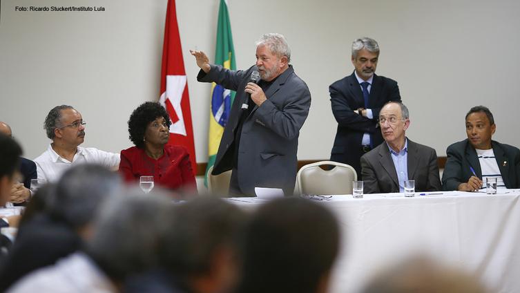 """Imagem de Lula: """"Estou 150% a disposição para ajudar Dilma"""""""