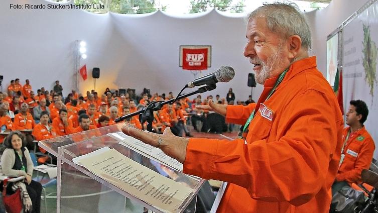 Imagem de Em defesa da Petrobras, Lula convoca petroleiros e diz:
