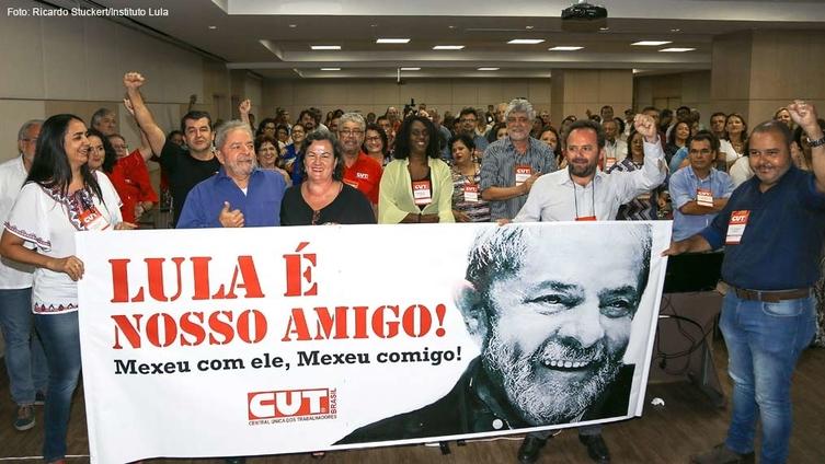 Imagem de CUT presta solidariedade a Lula em reunião