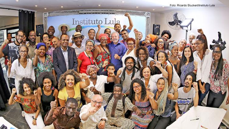 Imagem de Representantes do Movimento Negro manifestam solidariedade a Lula