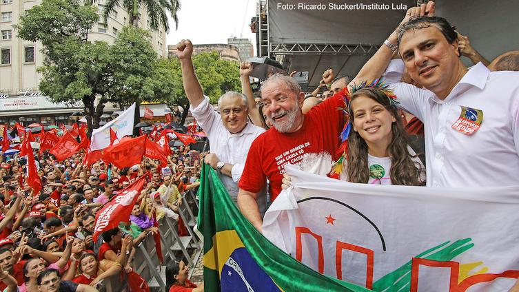 Imagem de Fortaleza: Em manifestação histórica, Lula e o povo cearense dizem não ao golpe