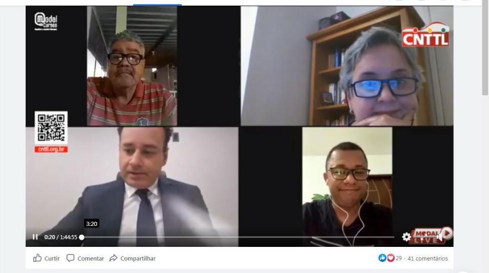 Imagem de Modal-LIVE #9: Dirigentes e especialistas debatem saúde do trabalhador e direitos diante da pandemia de COVID-19
