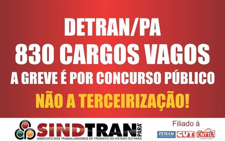 Imagem de Agentes de trânsito no DETRAN Pará anunciam greve na segunda-feira (20)