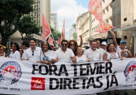 """Imagem de Bahia: """"Fora Temer"""" e """"Diretas Já"""" embalam Lavagem do Bonfim em Salvador"""