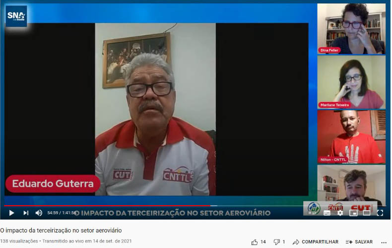 Imagem de CNTTL participa de Live que debate a terceirização do setor aeroviário no país