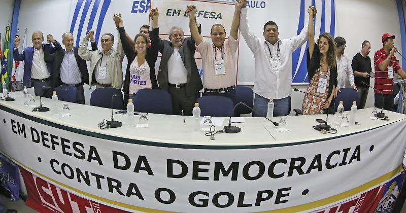 Imagem de Sindicalistas se reúnem com Lula em defesa da democracia