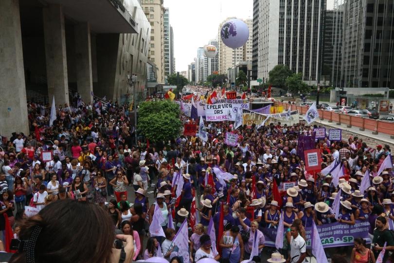 Imagem de SP: Oito mil mulheres participam do Dia Internacional de Luta da Mulher