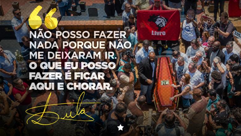 """Imagem de Lula: """"Não deixaram que me despedisse do Vavá por pura maldade"""""""