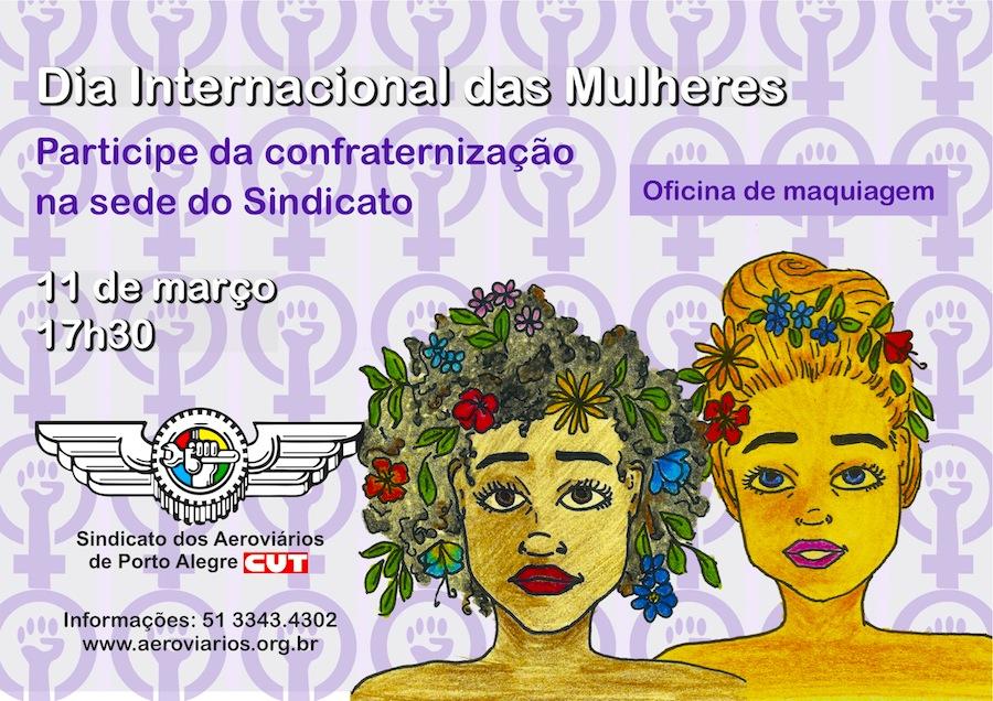 Imagem de Porto Alegre: Aeroviários promovem homenagem ao Dia das Mulheres