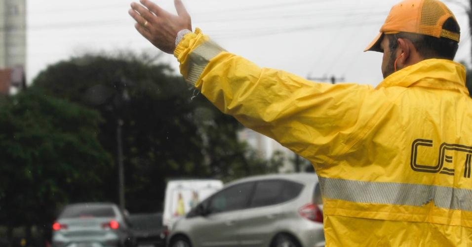 Imagem de SP: Agentes de Trânsito realizam assembleia com trabalhadores na CET na terça-feira (19)