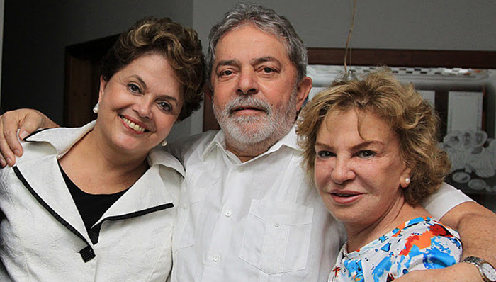 """Imagem de Dilma: """"Estamos juntos, presidente Lula, agora e sempre"""""""