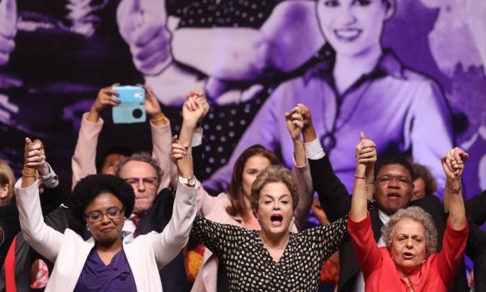 """Imagem de Dilma: """"É preciso que as mulheres reajam aos reflexos da política neoliberal"""""""
