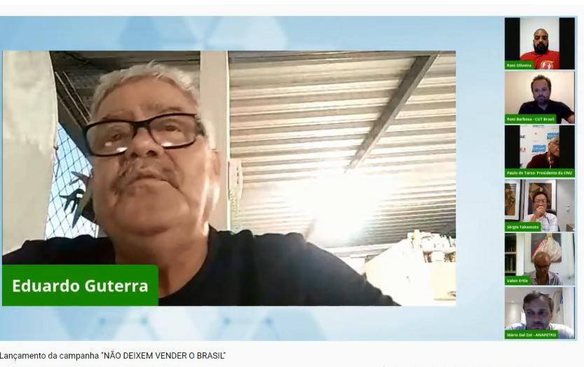 Imagem de CNTTL participa do lançamento da Campanha da CUT contra privatizações do governo Bolsonaro