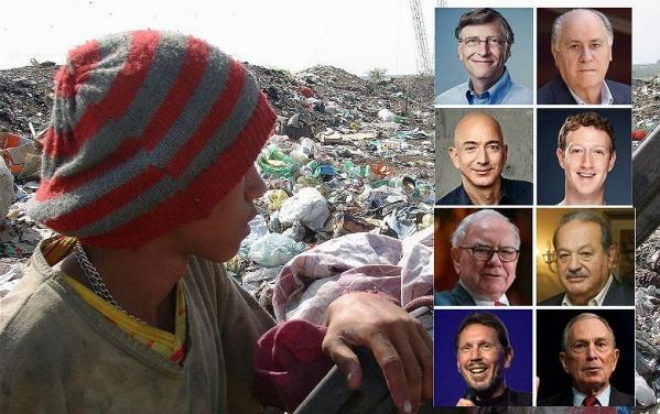 Imagem de Oito homens têm a mesma riqueza que 3,6 bilhões de pessoas no mundo