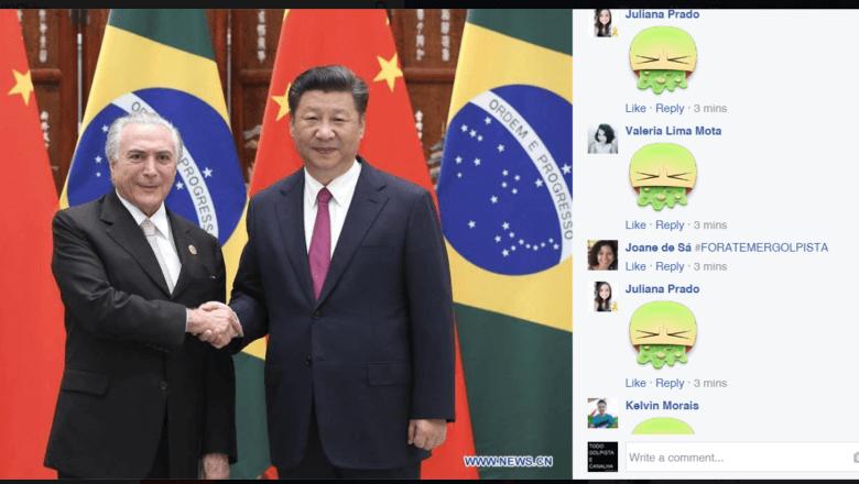 """Imagem de Indignados, brasileiros lotam página da reunião do G20 com """"Fora, Temer"""""""