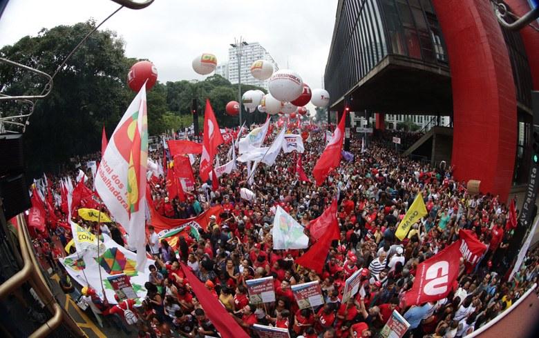 Imagem de Brasil para contra as reformas da Previdência e Trabalhista propostas pelo governo golpista de Temer