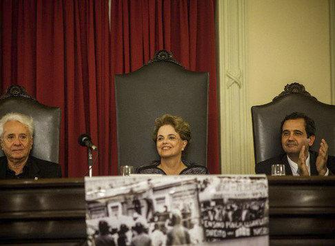 """Imagem de Dilma: """"Uma parte expressiva da continuidade do golpe é a perseguição ao Lula"""