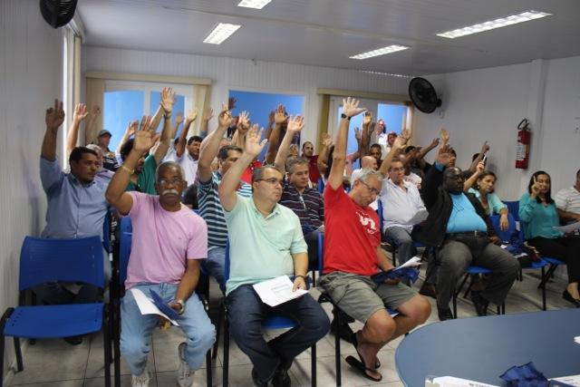 Imagem de Guarulhos: Em assembleia, aeroportuários aprovam contas do SINA/CUT e planejam atuação para 2015
