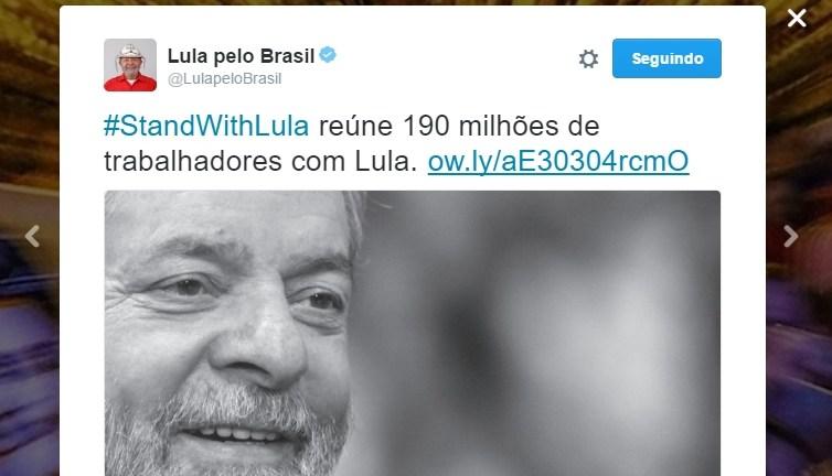 Imagem de Stand with Lula: 162 sindicatos se somam à luta em defesa do ex-presidente