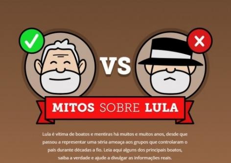 Imagem de Instituto Lula lança página que desconstrói boatos mentirosos sobre o ex-presidente