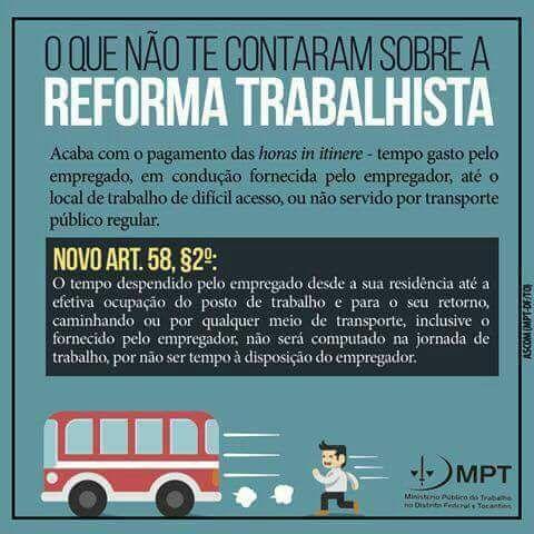Imagem de Campanha nas redes sociais do MPT alerta sobre os retrocessos da Reforma Trabalhista