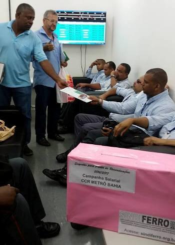 Imagem de Bahia: Metroviários conversam com a categoria para ouvir sugestões para pauta da Campanha Salarial