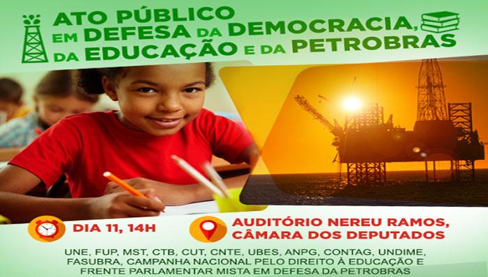 Imagem de Brasília: CUT e movimentos sociais farão ato em defesa da democracia, da educação e da Petrobras