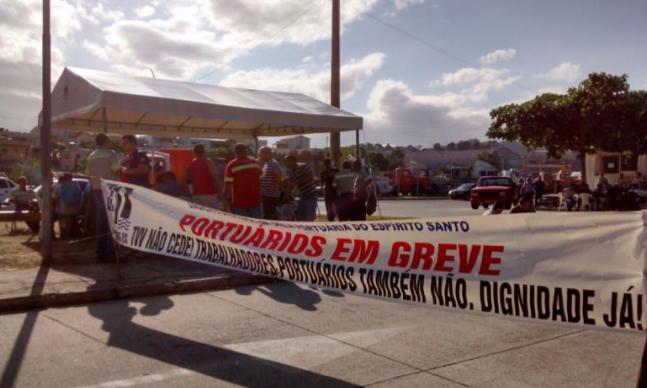 Imagem de Espírito Santo: Portuários rejeitam proposta indecente do TVV e greve continua