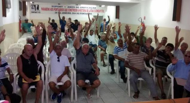 Imagem de ES: Em defesa do Portus, portuários aposentados aprovam estado de greve