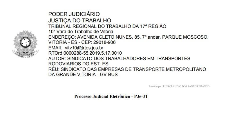 Imagem de Vitória da organização dos trabalhadores: Rodoviários do Espírito Santo ganham ação contra a MP nº 873/2019