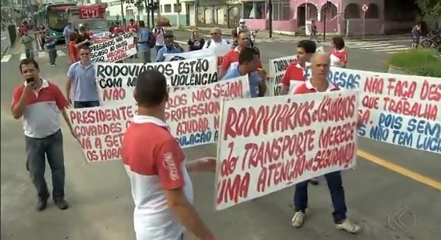 Imagem de Juiz de Fora (MG): Motoristas e cobradores cruzam os braços e fazem protesto por mais segurança no trabalho