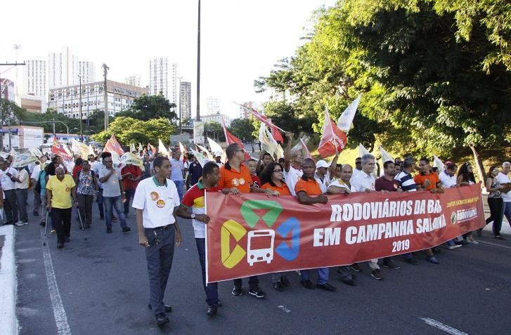 Imagem de Bahia: Sem avanço na Campanha Salarial, rodoviários param e fazem protesto