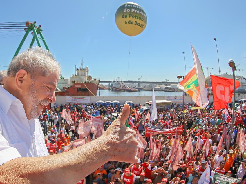 """Imagem de Lula: """"Se mexerem nos direitos dos trabalhadores, não vai ter Lulinha paz e amor"""""""