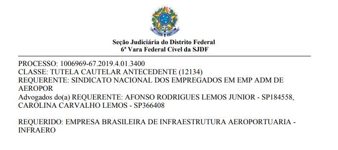 Imagem de Aeroportuários  ganham ação da Infraero contra a MP nº 873/2019