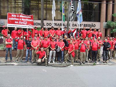 Imagem de Sorocaba: Sindicato dos Rodoviários participa de nova audiência contra demissões na Coca-Cola