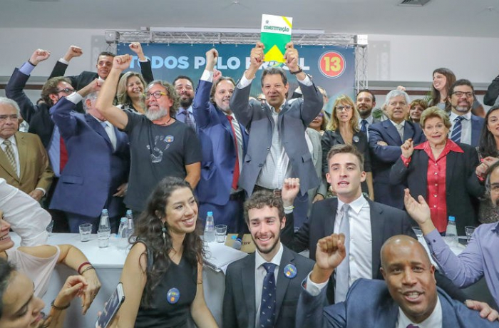 Imagem de Juristas fazem ato em apoio a Haddad: 'Nosso partido é a Constituição'
