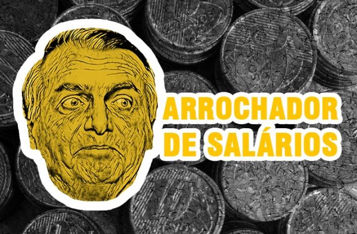 Imagem de Arrocho: Bolsonaro acaba com ganho real do salário mínimo que Lula criou