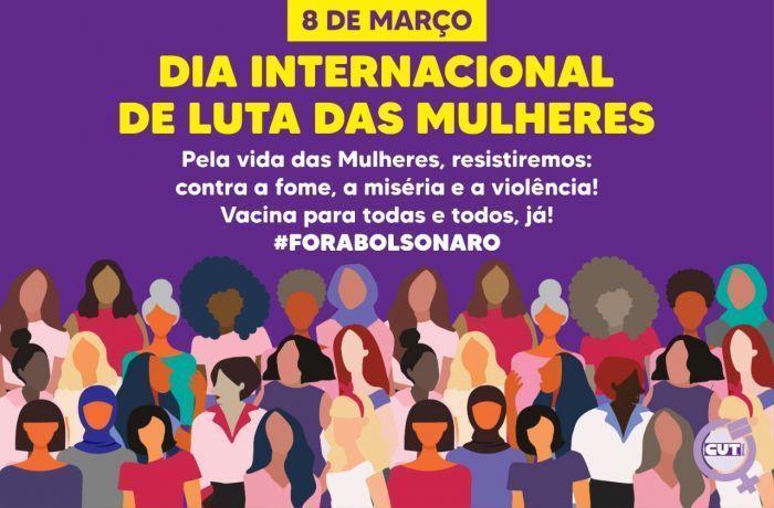 Imagem de Neste 8 de março, mulheres denunciam impactos da pandemia e descaso de Bolsonaro