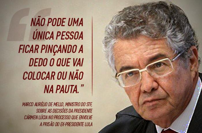 Imagem de #LulaLivre Prisão de Lula é ilegal e Cármen Lúcia é responsável, diz ministro do Supremo