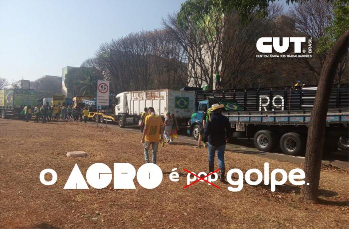 Imagem de Paralisação de caminhoneiros em apoio a Bolsonaro tem assinatura do agronegócio