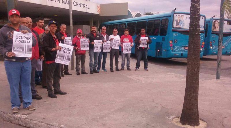 Imagem de São José dos Campos (SP): Condutores fazem ato para alertar população sobre os retrocessos de Temer