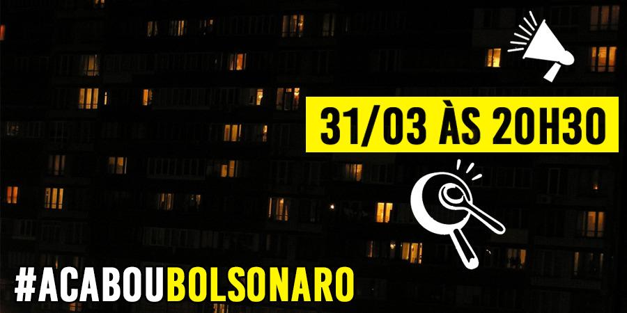 """Imagem de """"O Brasil precisa parar Bolsonaro"""" é tema de grande panelaço nesta terça-feira em todo país"""